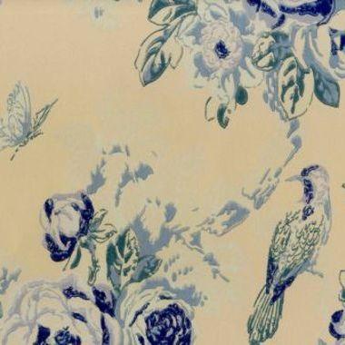 Anna French Bird In The Bush Blue Birwp021