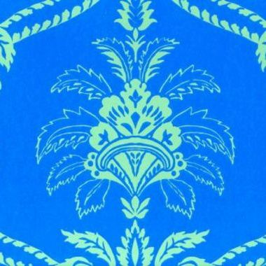 Anna French Damask Blue-Green DAMWP020