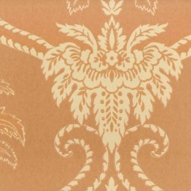Anna French Damask Terracotta-Buff DAMWP040