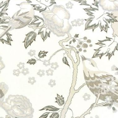 Anna French Songbirds Grey Pencil-White SONNW088