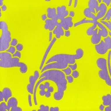 Anna French Velvet Jacquard Lime Green Purple Velwp094