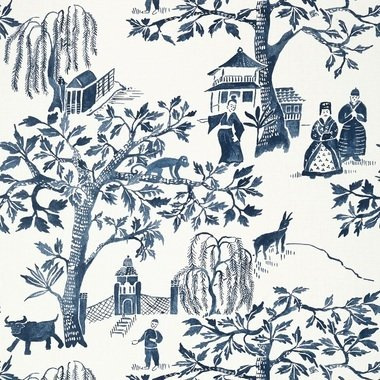 Anna French Willow Wood Navy AT7915