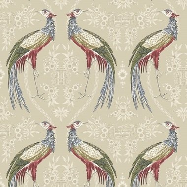 Blendworth Fabled Crane Blue-Neutral-Red 004