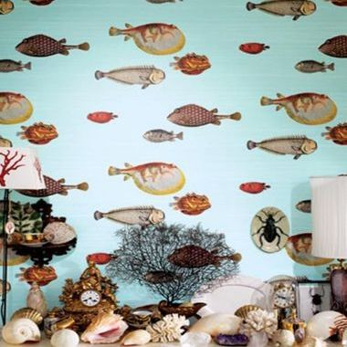 Cole & Son Acquario Pale Blue-Multi 97-10030