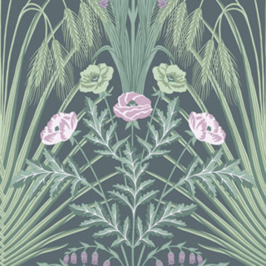 Cole & Son Bluebell Sage-Mint-Lilac-Charcoal 115-3009