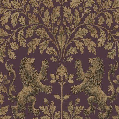 Cole & Son Boscobel Oak Metallic Autumnal Gold-Claret 116-10038