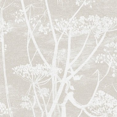 Cole & Son Cow Parsley Linen White-Taupe F111-5019