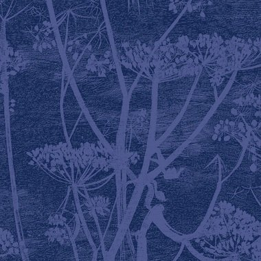 Cole & Son Cow Parsley Velvet Hyacinth-Ink F111-5016