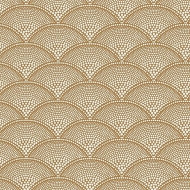 Cole & Son Feather Fan Jacquard Cream-Ginger F111-8032