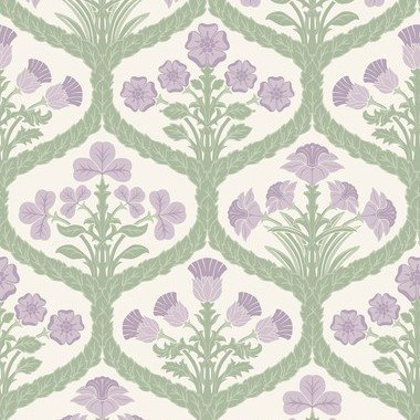 Cole & Son Floral Kingdom Mulberry-Olive-Parchment 116-3012