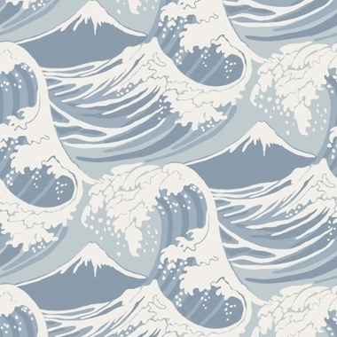 Cole & Son Great Wave Blue-White 89-2007