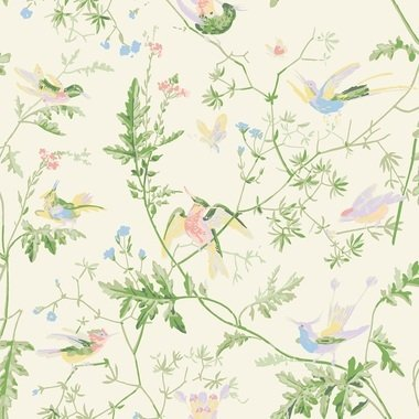 Cole & Son Hummingbirds Silk Bright-Multi F111-1002
