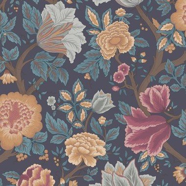 Cole & Son Midsummer Bloom Burnt Orange-Rose-Petrol-Ink 116-4014