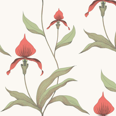 Cole & Son Orchid Poppy Red 95-10054