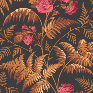 Cole & Son Rose Cerise-Burnt Orange-Black 115-10029