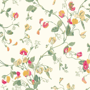 Cole & Son Sweet Pea Ochre-Rose-Parchment 100-6027