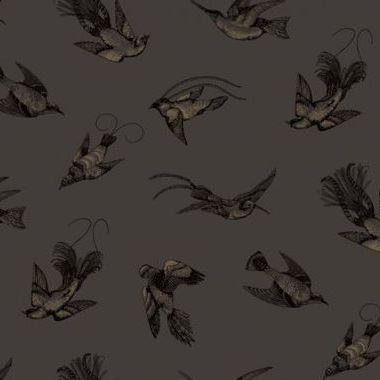 Cole & Son Tropical Birds Charcoal-Black-Gold 89-1004