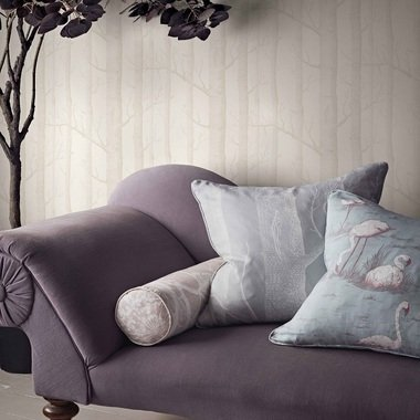 Cole & Son Woods Linen Union White-Soft Grey F111-7025LU
