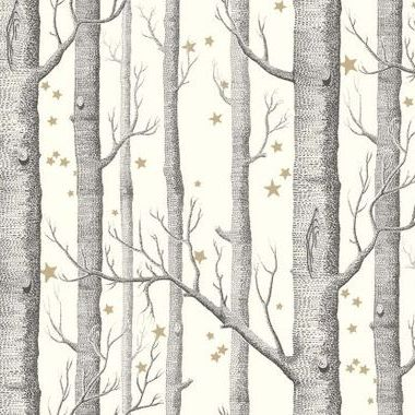 Cole & Son Woods & Stars Black-White 103-11050