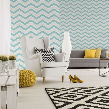 Coloroll Chevron Teal M1145