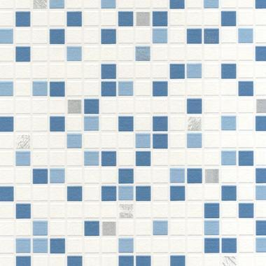 Contour Checker Tile Aqua 20-506