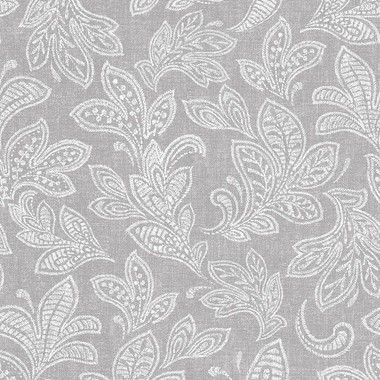 Crown Calico Leaf Soft Grey M1119