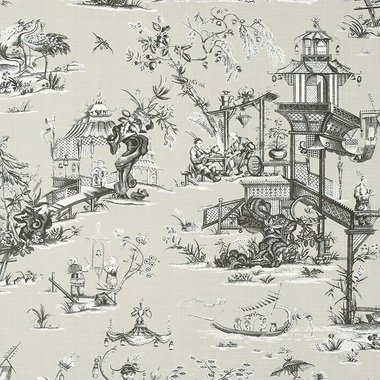 Thibaut Cheng Toile Beige and Black T75469