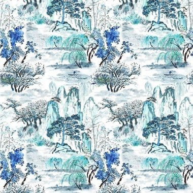 Designers Guild Jade Temple Outdoor Cornflower FDG2671-01