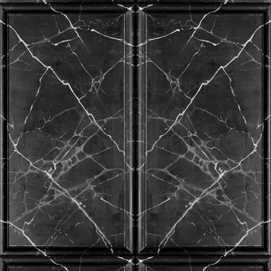 Debbie Mc British Design Painted Marble Panel Black