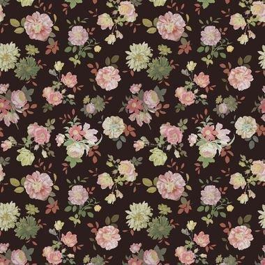 Eijffinger Vintage Flowers Black 383612