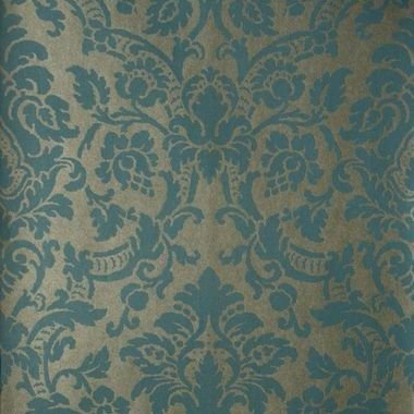 Fine Decor Kenneth James Isis Aqua Paisley Damask Teal FD51957
