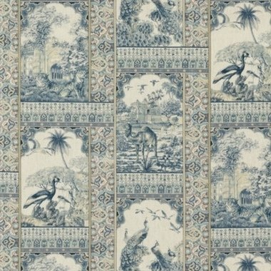 GP & J Baker Indienne Toile Blue-Red BP10834-1
