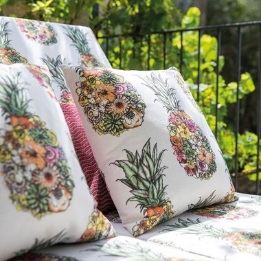 Ananas by Matthew Williamson Printed Linen Fabric Sold by Metre