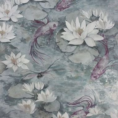 Matthew Williamson Water Lily Dove Grey W7148-04