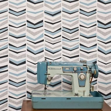 Miss Print Chevron Bluebird MISP1103