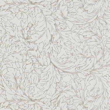 Morris & Co Acanthus Scroll Ivory-Charcoal MORAC104