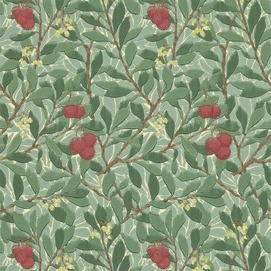 Morris & Co Arbutus Dark Green-Red 210406