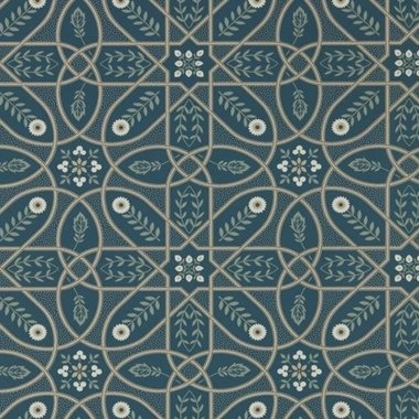 Morris & Co Brophy Trellis Deep Teal 216699
