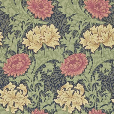 Morris & Co Chrysanthemum Indigo 212549