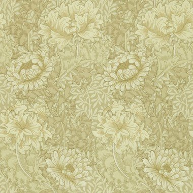 Morris & Co Chrysanthemum Ivory-Canvas 210419