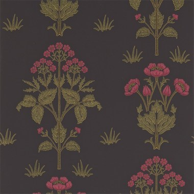 Morris & Co Meadow Sweet Charcoal-Rose 210352