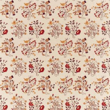 Morris & Co Newill Embroidery Wine-Saffron 236825
