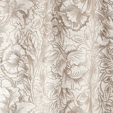 Morris & Co Pure Poppy Embroidery Pebble 236081