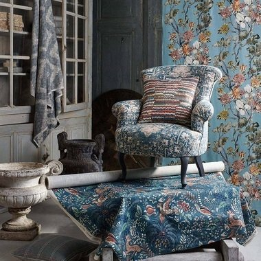 Mulberry Home Faded Tapestry Blue-Stone FD782-G16