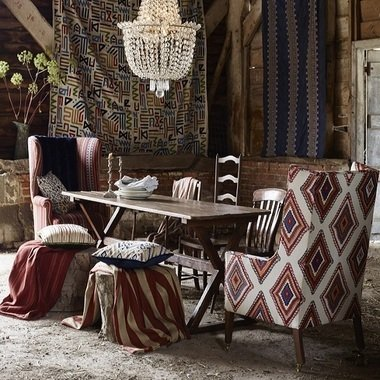 Mulberry Home Sundance Sienna-Red-Blue FD767-M38