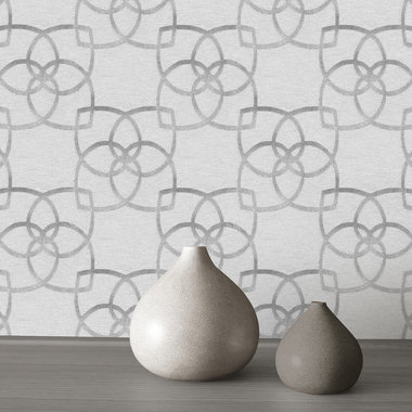 Muriva Marrakech Silver-Grey 601536