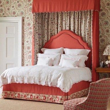 Nina Campbell Baville Red Teal Ncf4331, Nina Campbell Tapestry Bedding