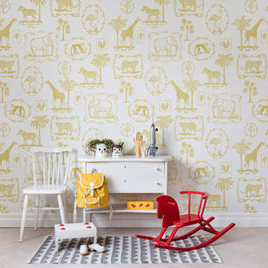 Rebel Walls Animal Party Yellow R15272