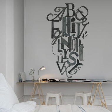 Rebel Walls Ink Letters R12491