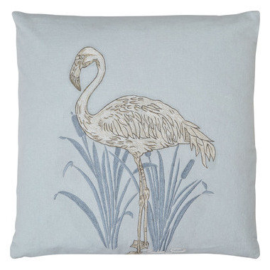 S.J. Dixon Lagoon Embroidered Cushion Blue 008248